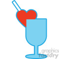 love drink valentines vector icon