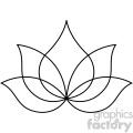 lotus thin tattoo design vector clip art image