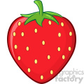 Royalty Free RF Clipart Illustration Strawberry Fruit Cartoon Drawing Simple Design Vector Illustration Isolated On White Background