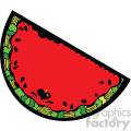 watermelon cartoon with a face