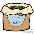 vector cartoon bag of grains