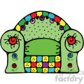 green cartoon chair vector