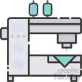 sewing machine vector royalty free icon art