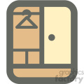 clothing wardrobe furniture icon