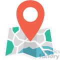 map vector flat icon