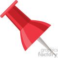 thumbtack vector flat icon