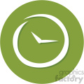 clock timer circle background vector flat icon