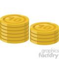 coins vector flat icon