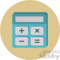 calculator circle background vector flat icon