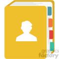 contact book vector flat icon