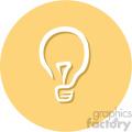light bulb circle background vector flat icon