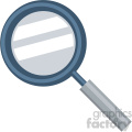 magnifying glass vector flat icon