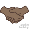african american handshake vector icon