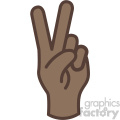 african american hand peace gesture vector icon