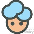 girl with blue hair avatar vector icons