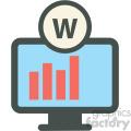 website statistics web hosting vector icons