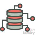 data abstraction vector icon