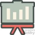 profit presentation vector icon