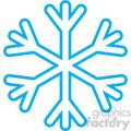 basic blue snowflake outlined rf clip art