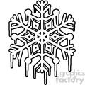 melting snowflake outline rf clip art