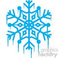 melting blue snowflake rf clip art
