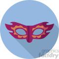mask on blue circle background