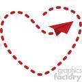 love letter flight pattern for valentines no background