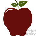 dark red cartoon apple