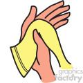 drying hands vector clipart