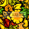 Leaves tiled background