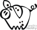 cartoon little pig