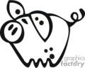 cartoon little pig