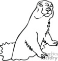 groundhog groundhogs   anml121_bw clip art animals