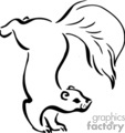 Outline of a Squirrel http://www.graphicsfactory.com/search/squirrel_P1.html