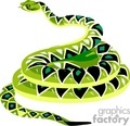 Green diamondback snake