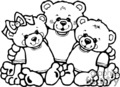 black and white three bears hugging each others gif, eps