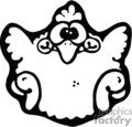 Cartoon baby chicken- black and white