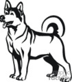 pet pets husky dog dogs   animal_ss_bw_006 clip art animals dogs  gif