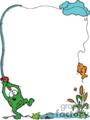 frog fishing border