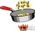food frying pan   1004food020 clip art food-drink  gif, jpg