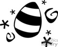 Black and White Stripped Easter Egg