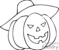 Jackolantern wearing a witches hat