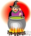 cartoon with with her cauldron vector clip art image