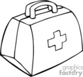 medical bag bags doctors firstaid   helth003_bw clip art medical  gif