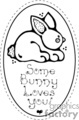 Easter plaque some bunny loves you