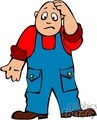 handyman carepenter man guy people handy carpenters farm farmer farmers worried scared sad  man1 clip art people