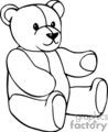 Black and white stuffed teddy bear