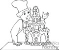 occupations work working occupational cake cakes chef baker bakers wedding   working_067-b clip art people occupations  gif