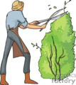 occupations work working occupational landscaping bushes bush lawn   working_037-c clip art people occupations